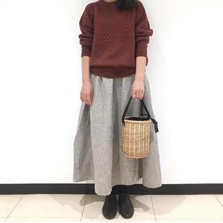 SM2 - 新品*TSUHARU*麻ウールニット柄編みプルオーバー