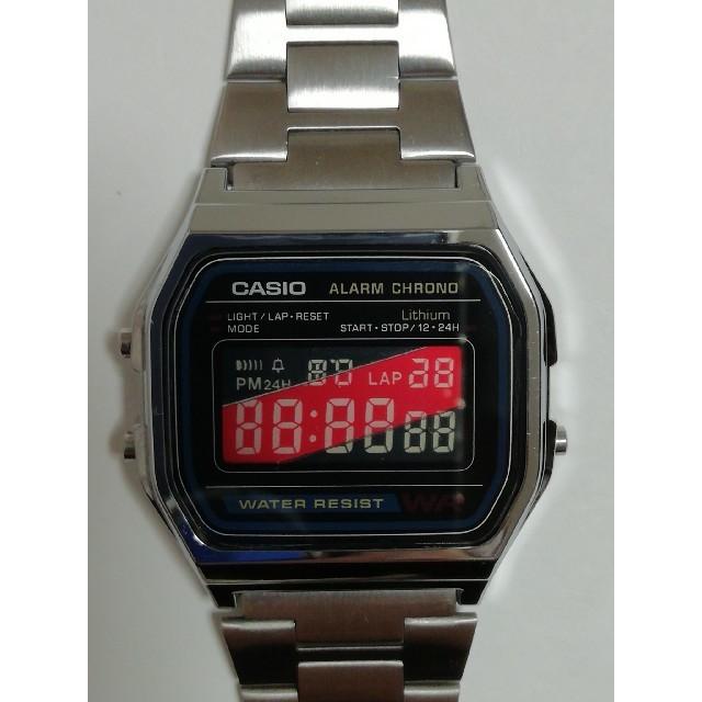 CASIO - 【分割液晶反転】カシオ スタンダード腕時計 A158W-1JFの通販