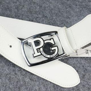 PEARLY GATES - ゴルフベルト パーリーゲイツ PG レザーベルト 白 サイズ 110