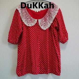 ウィゴー(WEGO)の【DuKKah】赤 ドット 女子力高め かわいい トップス(カットソー(長袖/七分))