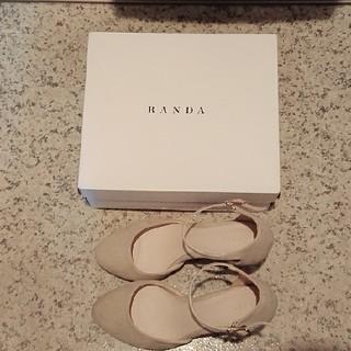 RANDA - RANDA サンダル ヒール ベージュ Mサイズ 箱付き