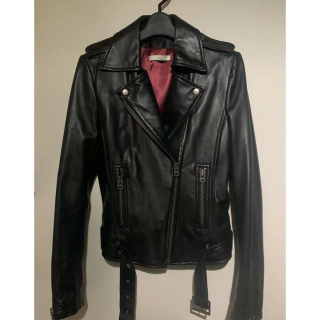 Ungrid(アングリッド)のungrid リアルレザーライダース レディースのジャケット/アウター(ライダースジャケット)の商品写真