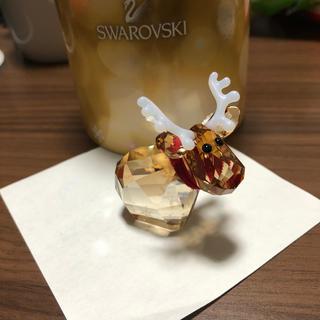 スワロフスキー(SWAROVSKI)のスワロフスキー トナカイ 置物(ガラス)