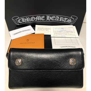 Chrome Hearts - 新品同様 早い者勝ち クロムハーツ 財布 WAVE ブラック 2019年モデル