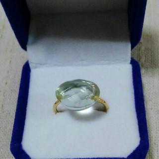 グリーンアメジストオーバルキャンディインドシャプーフリング(リング(指輪))