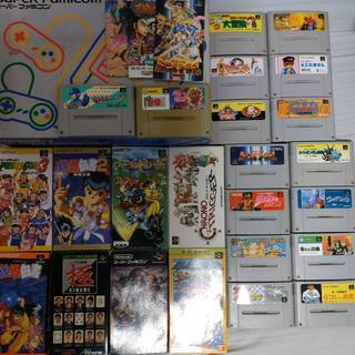 スーパーファミコン(スーパーファミコン)のスーパーファミコン 本体+ソフト24本(家庭用ゲーム機本体)
