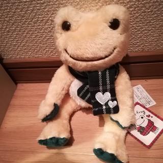 かえるのピクルス Love チェックグリーン マルシェ限定ビーンドール(ぬいぐるみ)