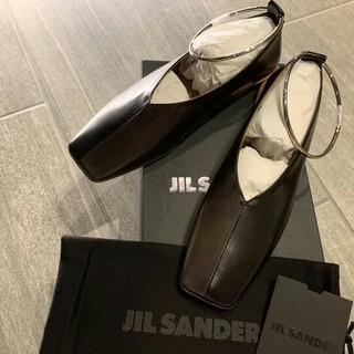 ジルサンダー(Jil Sander)の【Jil Sander】新品未使用 アンクレットレザーフラットシューズ(バレエシューズ)
