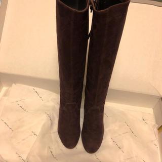 makiuehara ロングブーツ パープル スエード革(ブーツ)