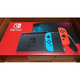ニンテンドースイッチ(Nintendo Switch)の[新品] ニンテンドー スイッチ Switch (ネオン) 送料込み 本体(家庭用ゲーム機本体)