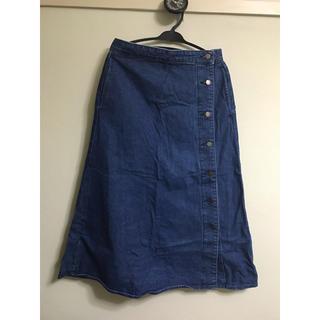 ジーユー(GU)のGU ジーユー デニムロングスカート XL(ロングスカート)