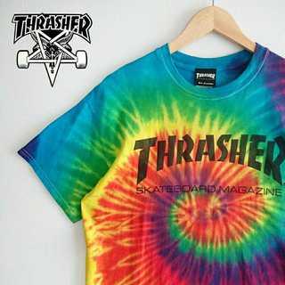 スラッシャー(THRASHER)の715 スラッシャー レインボー タイダイ Tシャツ THRASHER インスタ(Tシャツ/カットソー(半袖/袖なし))