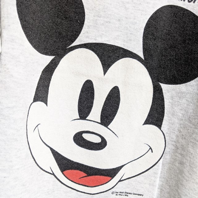90\u0027s Disneyミッキーマウス デカ顔スウェット