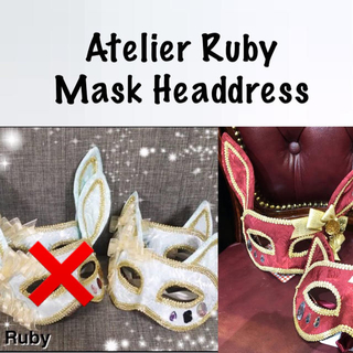 Angelic Pretty - Atelier Ruby Mask Headdress