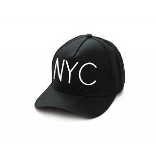 新品  NYCキャップ ブラック×白字(キャップ)