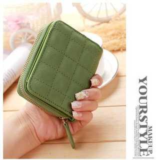 財布 二つ折り コイン カード ケース おしゃれ かわいい コンパクト グリーン(財布)
