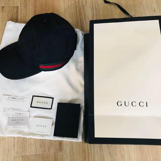 グッチ(Gucci)のグッチ モノグラム キャップ BLK(キャップ)