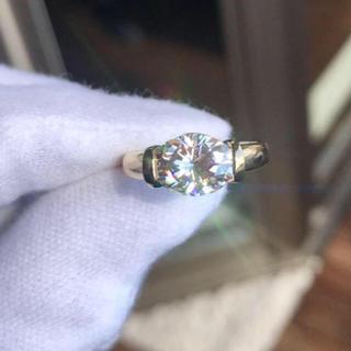 輝くモアサナイト ダイヤ リング(リング(指輪))