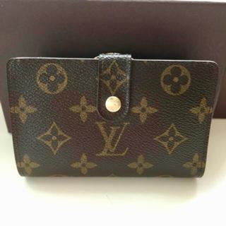 ルイヴィトン(LOUIS VUITTON)の美品 正規品ルイヴィトンがま口 折財布(財布)