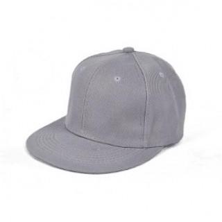 無地 キャップ 帽子 韓国 B系 HipHop ユニセックス CAP グレー (キャップ)