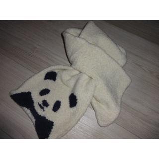 MUJI (無印良品) - 新品☆無印良品 のびのびマフラー パンダ