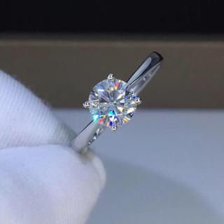【お試し】輝く モアサナイト  ダイヤモンド リング(リング(指輪))