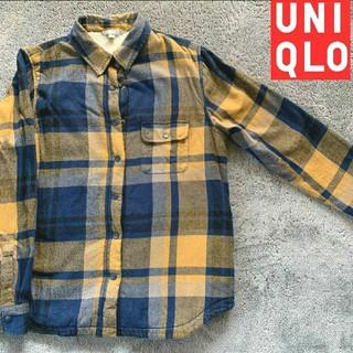 ユニクロ(UNIQLO)の値下げ⭐ユニクロ ふわふわボア チェックシャツ ネルシャツ フランネル(シャツ/ブラウス(長袖/七分))