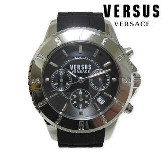 ヴェルサーチ(VERSACE)の新品 VERSUS VERSACE 腕時計 シルバー ブラック 44mm(腕時計(アナログ))
