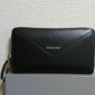 Balenciaga - 値下げ交渉可能!美品バレンシア 黒 長財布