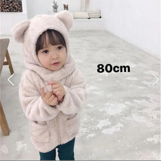 petit main - 韓国子供服 アウター フリース 帽子 80cm 韓国子ども服 海外子供服