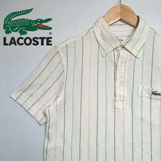 ラコステ(LACOSTE)のK029 LACOSTE ラコステ 縦 ストライプ ポロシャツ BDシャツ(ポロシャツ)