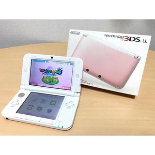 ニンテンドー3DS(ニンテンドー3DS)の【送料無料】ニンテンドー 3DSLL ピンク×ホワイト(家庭用ゲーム機本体)