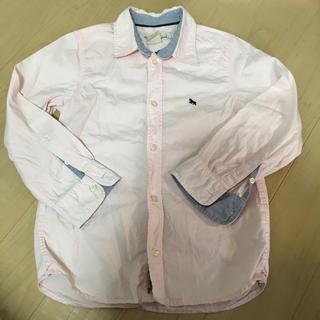 エイチアンドエム(H&M)のH&M ピンクシャツ 120サイズ シミ汚れあり(ブラウス)