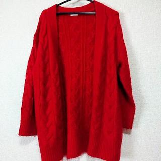 GU - GU ケーブル編みカーディガン
