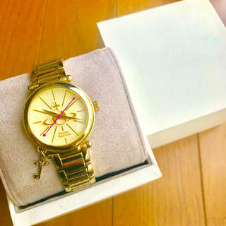 Vivienne Westwood - 【美品!!】LADIES ヴィヴィアン 腕時計 ゴールド キーチャーム付属🎀