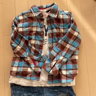 ラコステ(LACOSTE)のラコステ チェックシャツ 110(Tシャツ/カットソー)
