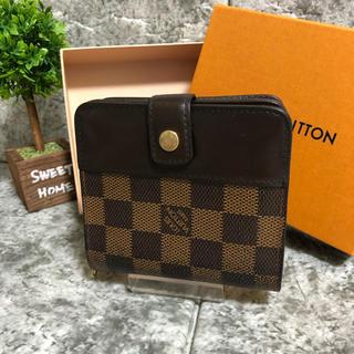 LOUIS VUITTON - 極美品 ルイヴィトン 財布 ダミエ エベヌコンパクト・ジップ N61668