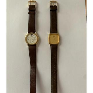 SEIKO - セイコー腕時計2本セット ムーンフェイズ 動作未確認 ジャンク