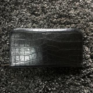 Saint Laurent - 定価7.9万サンローラン クロコ型押し財布 ウォレット
