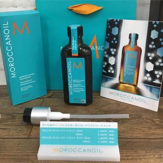 モロッカンオイル(Moroccan oil)のモロッカンオイル100m ポンプつきショップ袋つき 正規品(オイル/美容液)