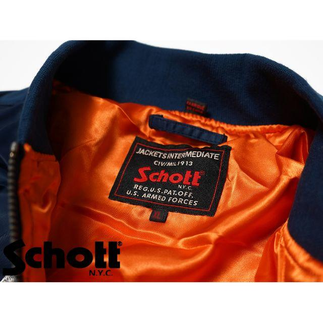 schott(ショット)のSchott NYC ショット ★ XL 刺繍 MA-1 フライト ジャケット メンズのジャケット/アウター(ブルゾン)の商品写真