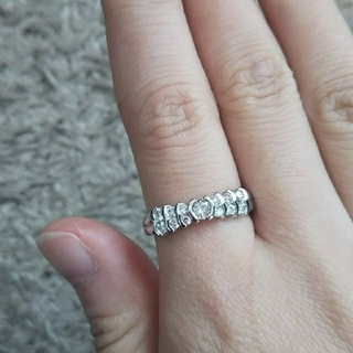 プラチナピンクダイヤ、ダイヤモンドリング