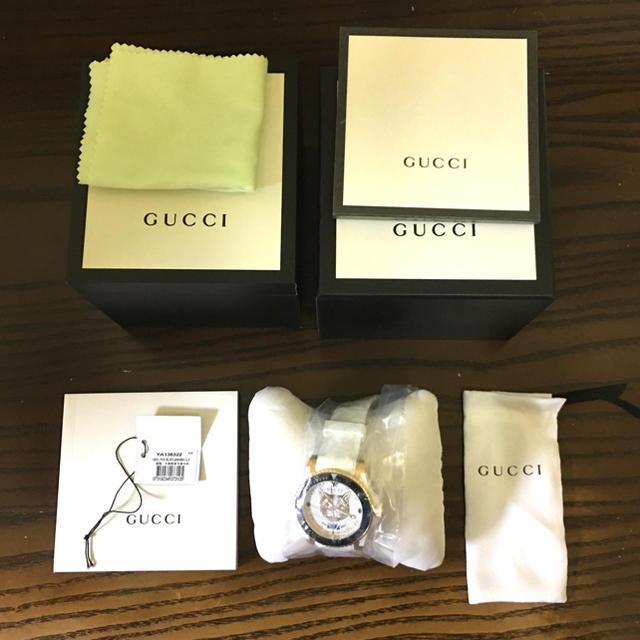 Gucci - 【格安正規品】GUCCI時計 イエローキャット YA136322 返品OKの通販