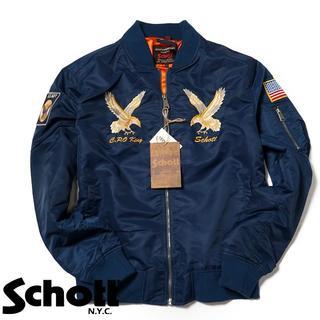 ショット(schott)のSchott NYC ショット ★ L 刺繍 MA-1 フライト ジャケット(ブルゾン)