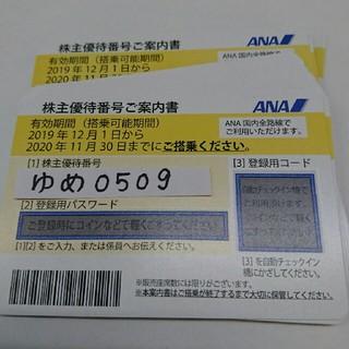 最新 ANA 株主優待券★24枚(航空券)