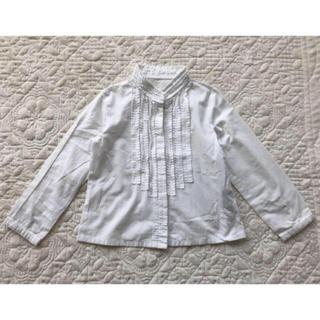BeBe - ★べべ★白 長袖ブラウス トップス★110★フォーマル
