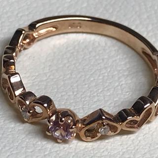 k10 ピンクサファイア ダイヤ(リング(指輪))