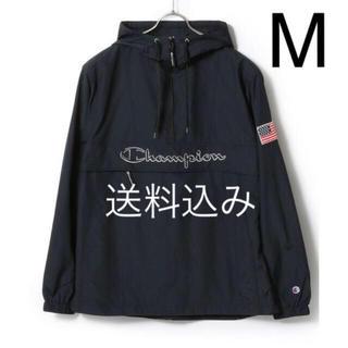 チャンピオン(Champion)の【M】CHAMPION チャンピオン アノラック プルオーバー ブラック(ナイロンジャケット)
