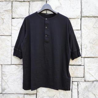 COMOLI - 【19ss/希少品】comoli ウール天竺ヘンリーネックTシャツ ブラック