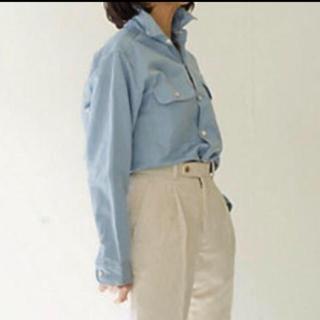 マディソンブルー(MADISONBLUE)の美品 マディソンブルー HAMPTON SHIRT C/LI-SAX(シャツ/ブラウス(長袖/七分))